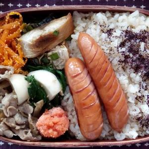 6月のお弁当(焼き鯖のニラソース)