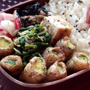 6月のお弁当(ズッキーニの豚肉巻き)