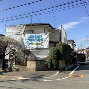 今日も藤沢市で外壁塗装(^^)ぬりいち