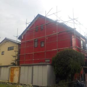 厚木市で外壁屋根塗装行いました①ぬりいち(^^)/
