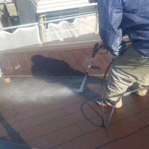 座間市で外壁屋根塗装工事行いました①(^^)/ぬりいち
