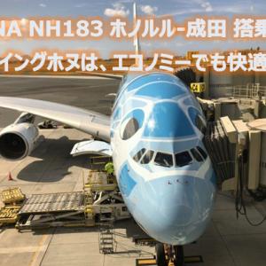 ANA NH183 ホノルル(HNL)-成田(NRT) フライングホヌ(ラニ)搭乗機