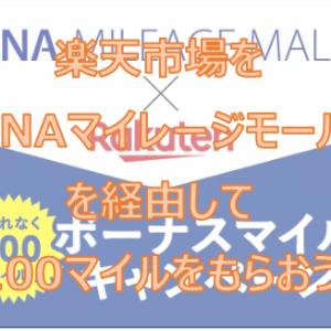 <対象者限定>ANAマイレージモール経由して楽天市場で買い物をしてボーナスマイルをもらおう(2020年5月28日(木)~7月31日(金))