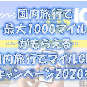 <ANA国内線搭乗者限定> 国内旅行でマイルGETキャンペーン2020冬(2020年11月24日(火)~2021年1月11日(月))