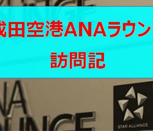 成田空港 国際線 第4サテライト ANAラウンジ訪問記