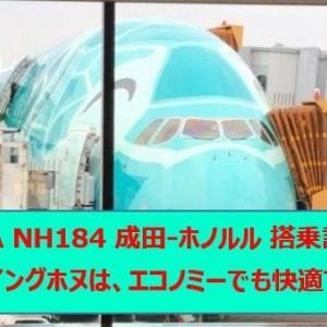 ANA NH184 成田(NRT)-ホノルル(HNL) フライングホヌ(カイ) 搭乗記
