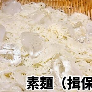懐かしの素麺【昨日の晩御飯】