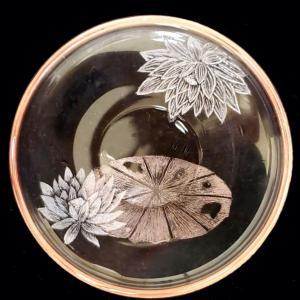 蓮の葉と水滴を描く【生徒さんの作品】192