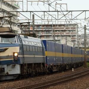 64国鉄色3075レ、ニーナ充当カンガルーライナーSS60 貨物列車撮影 7/10