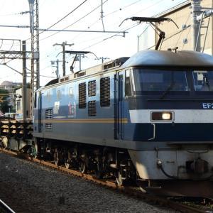 押し桃充当 新日鉄レール輸送列車 貨物列車撮影 9/27