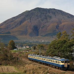 黒姫山としなの鉄道115系 長野撮り鉄ツーリング③
