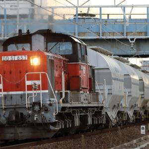 衣浦臨海鉄道に乗り入れたDD51白ホキを撮る その2 冬の東海地方 撮り鉄遠征⑫