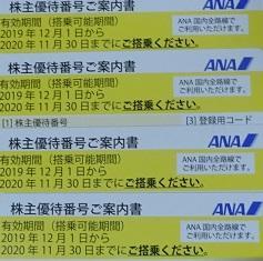 ANA(9202)の株主優待が届きました。