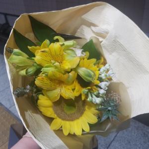 彼が選んでくれたお花