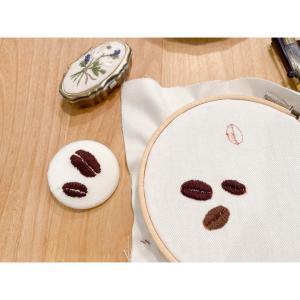 コーヒー豆刺繍