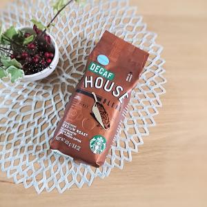 【スタバ】ハウスブレンド★レギュラーコーヒー(ブラジル・コスタリカ)デカフェの豆を購入~♪