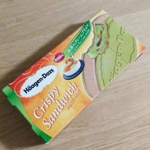 【アイス】期間限定!ハーゲンダッツクリスピーサンド★抹茶のクレームブリュレ♪