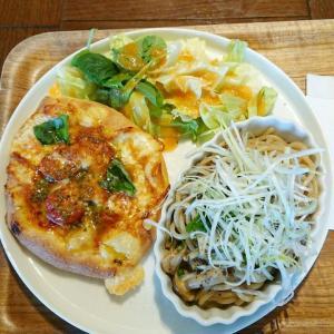 【外食】ワンプレートランチ★パスタ&ピザとアイスコーヒーと・・♪