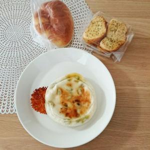 【パン】ランチ★枝豆パン+クリームパン+ガーリックラスク♪