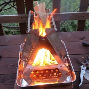 手軽にテラスで眺められる焚火を ~野良ストーブと野良ばさみ~