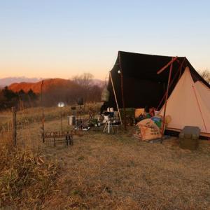 朝、陽のひかりがサイトを照らして ~今季初のツンデレ内山牧場⑥~