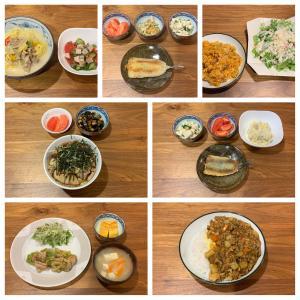 3月11日〜3月17日に食べた夕食。夫メシがどんどん加速中。お昼ご飯まで作ってくれるようになりました。
