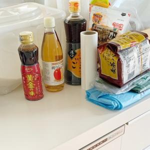 備蓄したなら減らす作業も!キッチン周辺の整理と全出し作業。