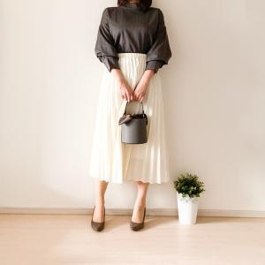 【UNIQLO】万能プリーツスカートで細見え!気になる下半身もカバー
