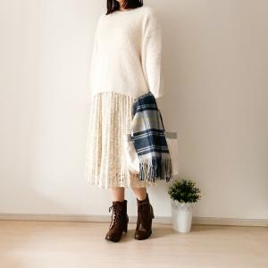 【GU】完売必至!高見えレースプリーツスカートで大人のミルキーコーデ