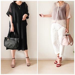 【GU】シアーオーバーサイズシャツを大人女性がおしゃれに着こなすコツは?