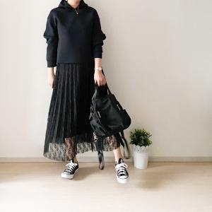 【UNIQLO・GU】上下限定価格! 大人カジュアルが決まる、きれいめパーカ&スカート