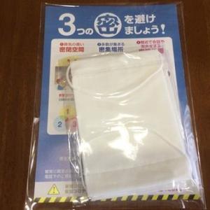 【COVID-19】巷で噂の「例のマスク」が届いていました。
