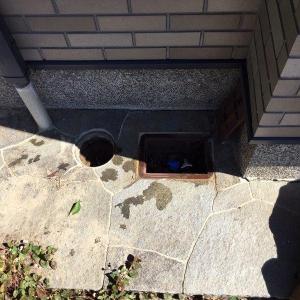 散水栓から水栓柱に