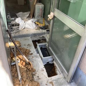 一次側給水管漏水修理
