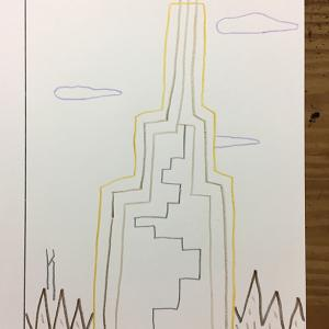 無人の島に建つ塔