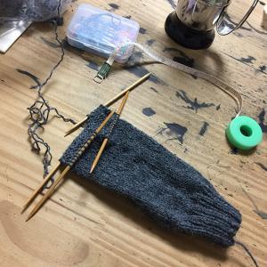 地味にゆるっと靴下編み(2)リフレッシュ効果
