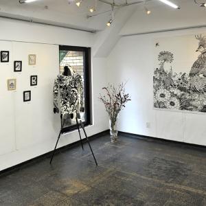 江島恵個展「墨いろの楽園」 無事終了いたしました