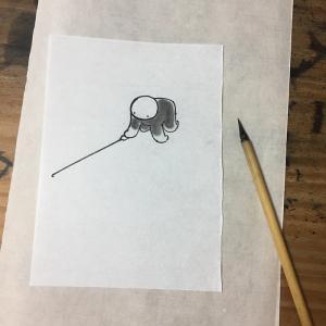 絵を描くには、まず測量から