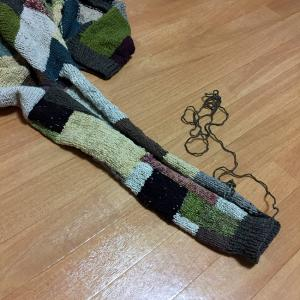 夏に向かうこの季節にウールのカーディガンを編むのか(23)いつものやり方で