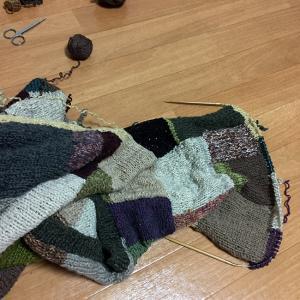 夏に向かうこの季節にウールのカーディガンを編むのか(25)早く仕上げないと