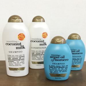【グアム/お土産】アロガンオイル?ココナッツ?どちらもいい香り。ペイレスでお得サイズのシャンプーを購入。