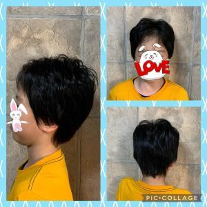 息子の散髪