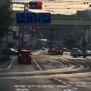 路面電車が走る街