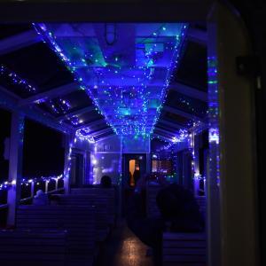 クリスマスの 里山(イルミネーション)トロッコ号 小湊鐵道