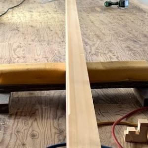 小さいけど無節檜で一本物の上がり框