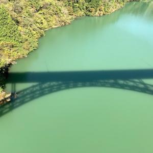 利賀大橋と北原荘のお風呂