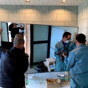 洗面器に湯を張れない水栓金具、ネット接続、FAX開通、エアコン、浴室鏡の取付