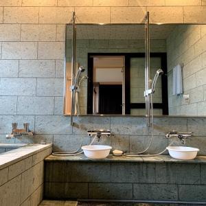 手前味噌で申し訳ないが、十和田石の風呂は最高だった
