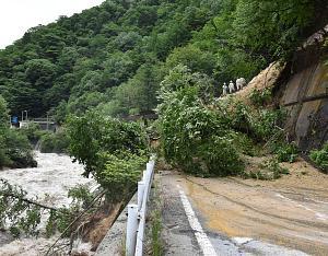 土砂崩れでの別ルートは50km超の1820円高