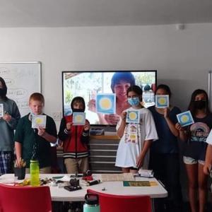 ハワイの子供達とパステル和アート